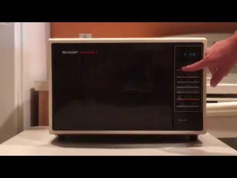 sharp carousel ii 2 microwave demonstration setup
