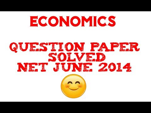 NET Economics 2014(June) Question paper II (Part-1)