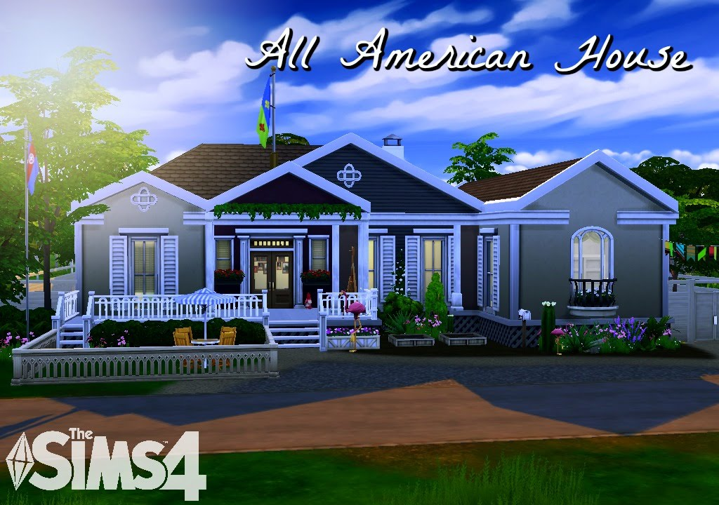 The sims 4 house building all american house youtube for The american house