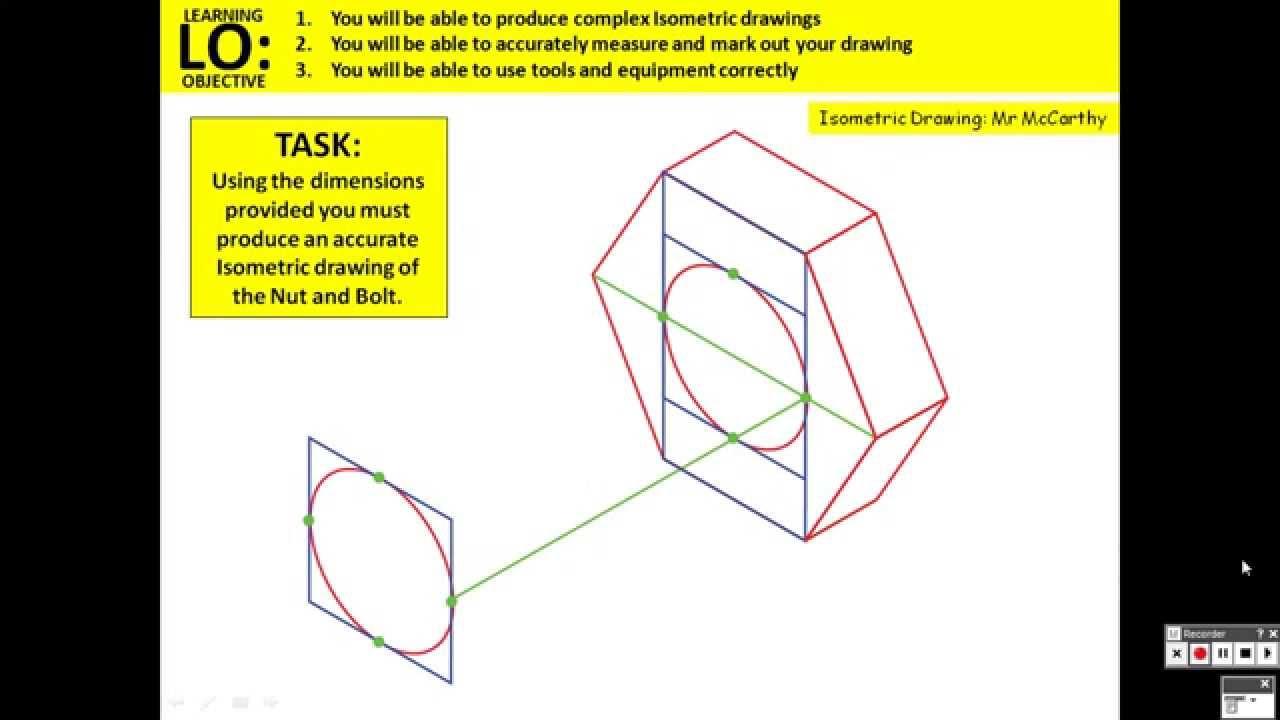 isometric nut bolt [ 1280 x 720 Pixel ]