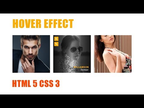Hover Effect Using Css 3 And Html 5 || Website Design