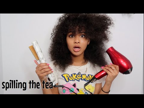 straightening my hair and spilling tea ft. awkwardness
