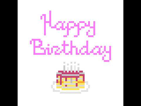 Dessin Pixel Art Anniversaire Youtube