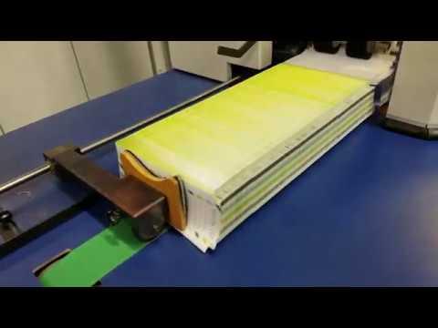 The Envelope Printery's new W+D POEM 627GS runs shape-cut envelopes at their open house
