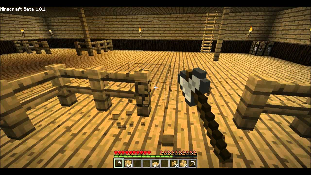 Minecraft Lets Build A Barn Part 2 Interior Youtube