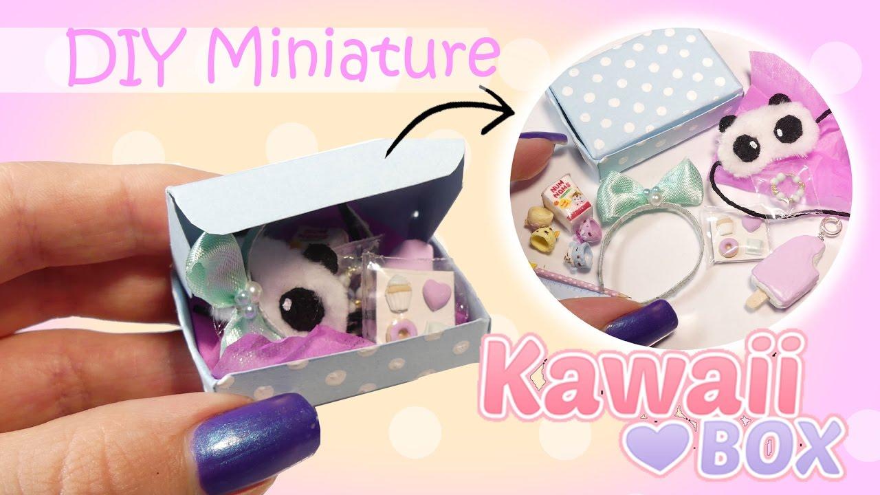 Miniature Kawaii Subscription Box Tutorial Diy Dolls