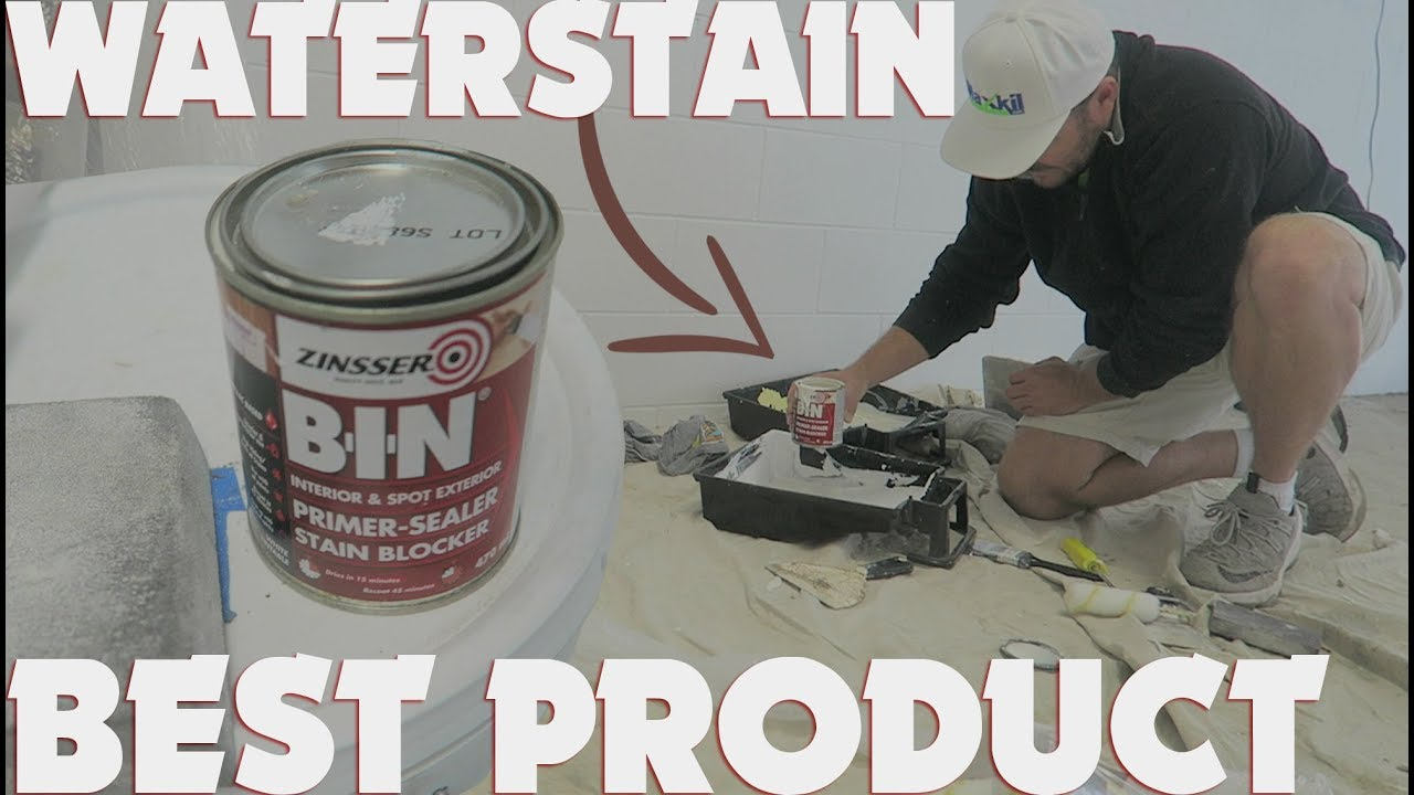 How To Paint Over A Water Stain On Ceiling Using Bin