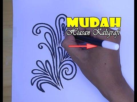 Mudah Membuat Hiasan Kaligrafi Arab Kita Dam Art Youtube