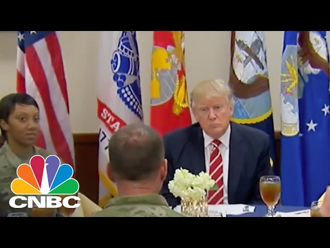 President Donald Trump Talks With Troops At Centcom | Power Lunch | CNBC
