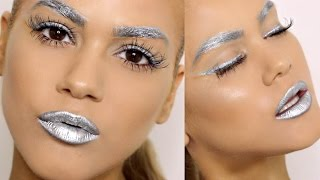 ALL SILVER MAKEUP TUTORIAL
