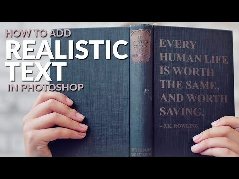 How To Add Realistic Text To ANYTHING In Photoshop