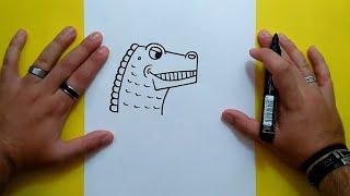 Como dibujar un dinosaurio paso a paso 13 | How to draw a dinosaur 13