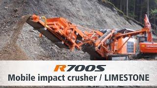 Rockster impact crusher / Prallbrecher R700S Limestone / Kalkstein Austria Seebacher