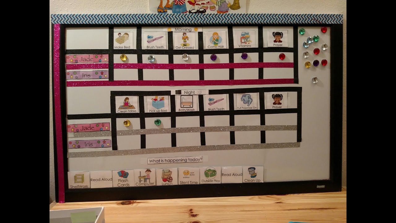 Toddler Chore Chart Get your children on a routine YouTube