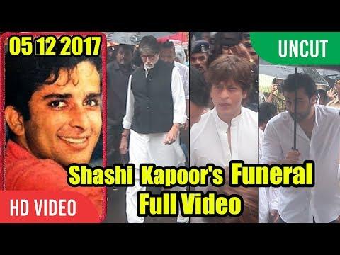 UNCUT - Shashi Kapoor Funeral Full Video | Shahrukh Khan, Ranbir Kapoor, Amitabh Bachchan