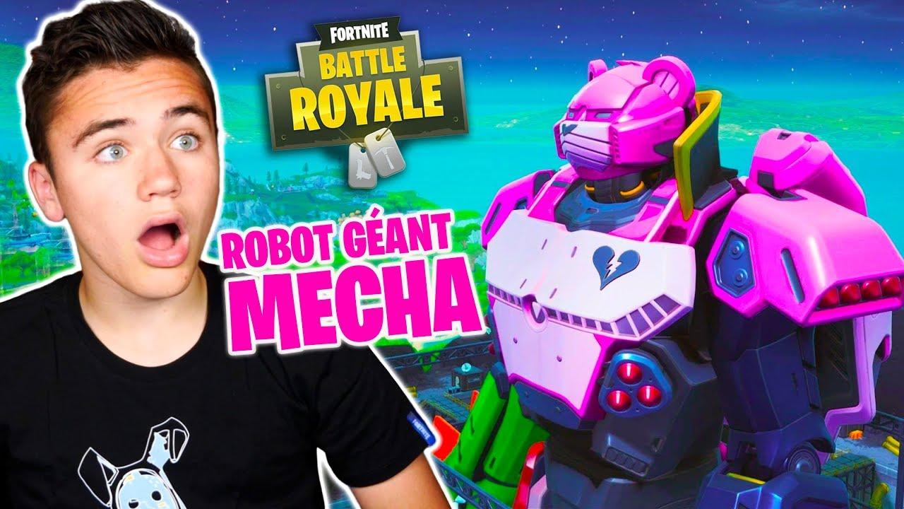 Robot Mécha Le Combat Commence Fortnite Battle Royale Néo The One