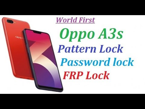 Oppo A3s Pattern Unlock, Password unlock, Frp Unlock, Reset Unlock by Gindia