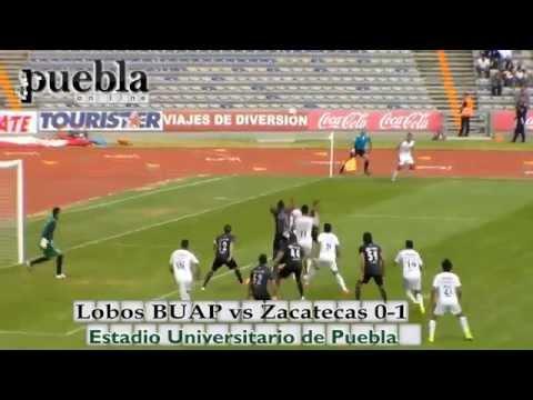 Lobos BUAP vs Zacatecas 0-1, J3, Ascenso MX 2014