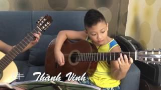 Happy birthday to you - Thành Vinh & Thái An biểu diễn tặng sinh nhật mẹ - Văn Anh Guitar Class