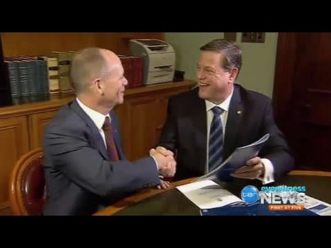 'Not Newman' Tim Nicholls' pitch for premier includes an apology for Campbell Newman