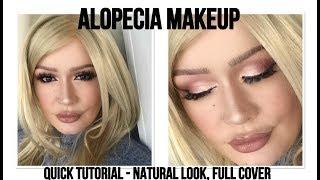 ALOPECIA MAKEUP: Daytime quick eye makeup | No Makeup Makeup LookColourpop | Tutorial