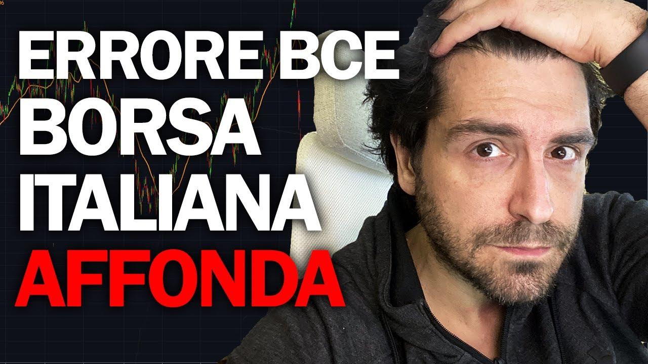 LA BCE NON TAGLIA I TASSI BORSA ITALIANA CROLLA. IL MONDO STA CAMBIANDO? 12