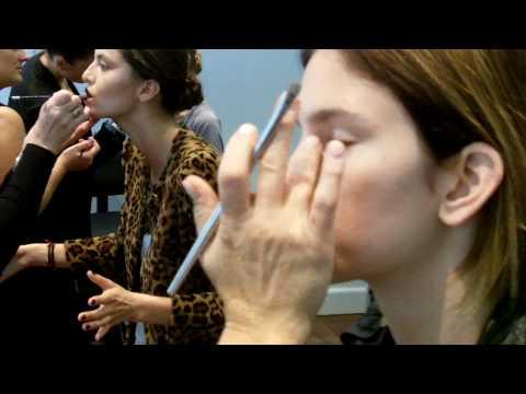 Carla Zampatti Backstage Make Up At RAFW 2011 With RESCU