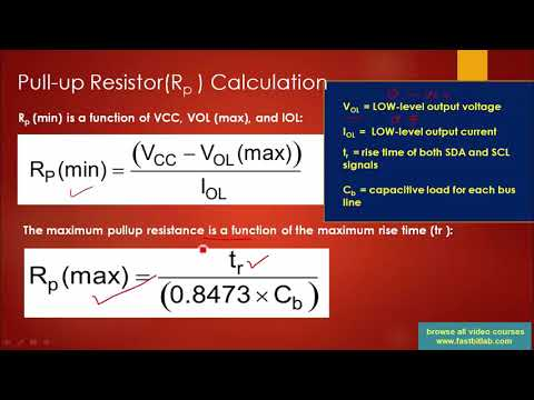 I2C pull up resistor, Bus capacitance, and rise time discussion