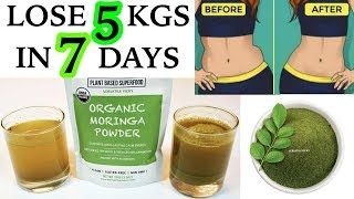 Lose 5Kg In A Week  | Moringa Weight Loss Tea/Drink To Lose 5 Kgs In 7 Days