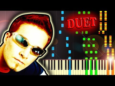 DARUDE SANDSTORM but it's an AWESOME PIANO DUET - Piano Tutorial