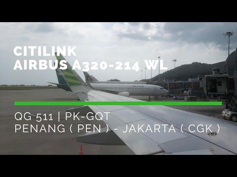 Citilink ( Garuda Indonesia ) | QG511 | Penang ( PEN ) - Jakarta ( CGK ) | Airbus A320-200