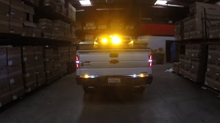 fmb truck outfitters installation of whelen strobe lights