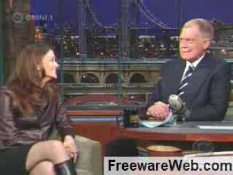 Aishwarya Rai Burns David Letterman in his own show