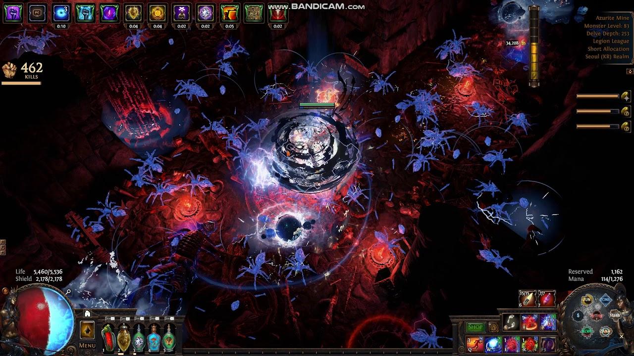 [POE 3 7] Legion Inquisitor Spark - Delve Farming (Ruined Chamber)