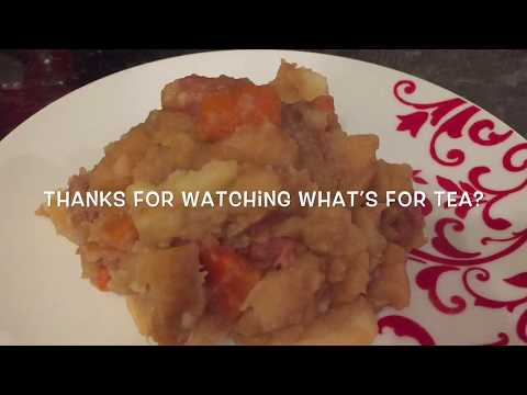 Authentic Traditional Scottish Sausage Stovies (slow cooker
