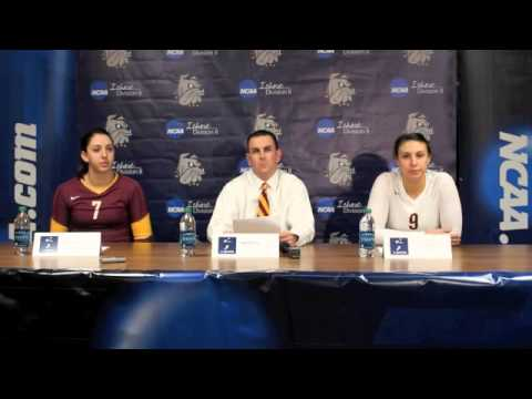 University of Minnesota Duluth Post Match at NCAA Division II Volleyball Central Regional Quarterfin