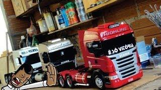 miniaturas de caminhão em madeira(só scania)