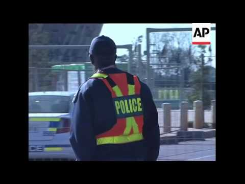 Police at stadium ahead of match as stewards' dispute smoulders on