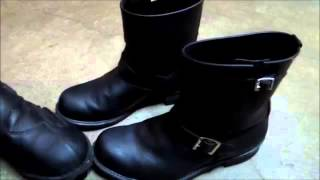 Using Frye 8R Engineer boots for motorcycle boots Made in USA since 1863