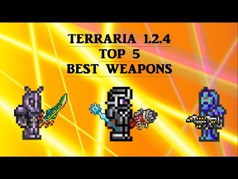 Video clip hay Terraria 1 3 TOP 5 BEST WEAPONS 720K DPS