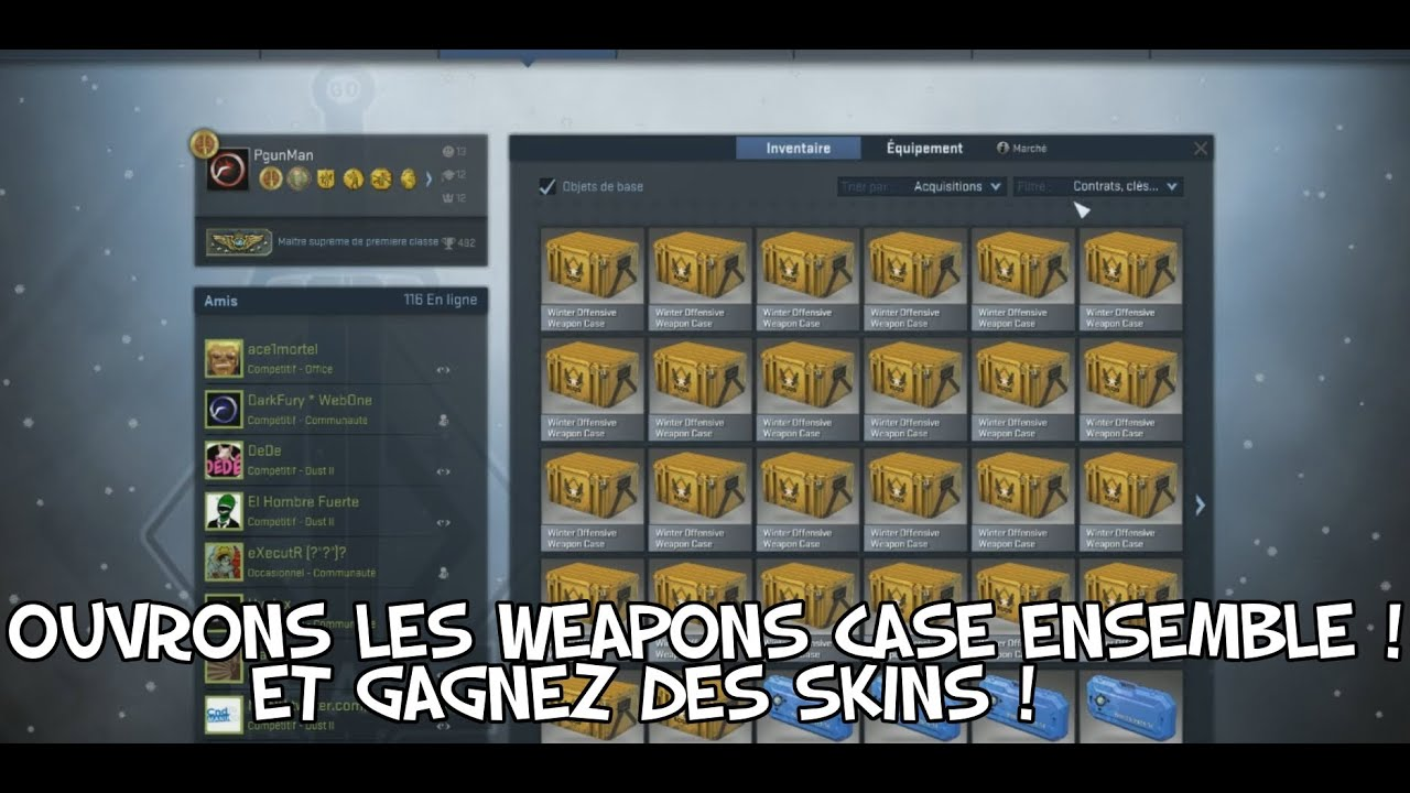 ouverture de caisse cs go termined concours skins pgunman youtube. Black Bedroom Furniture Sets. Home Design Ideas