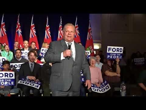 Doug Ford speaks at Nepean Sportsplex-Ottawa-2018