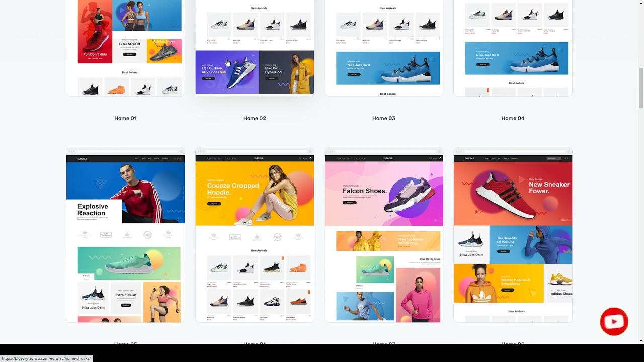 Eurotas - Clean Minimal WooCommerce Theme product video thumbnail fashion Build Website - YouTube