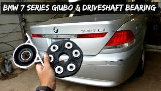 BMW E65 E66 GUIBO FLEX DISC DRIVESHAFT SUPPORT BEARING REPLACEMENT REMOVAL