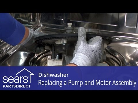 Replacing the Pump and Motor Assembly on a Dishwasher