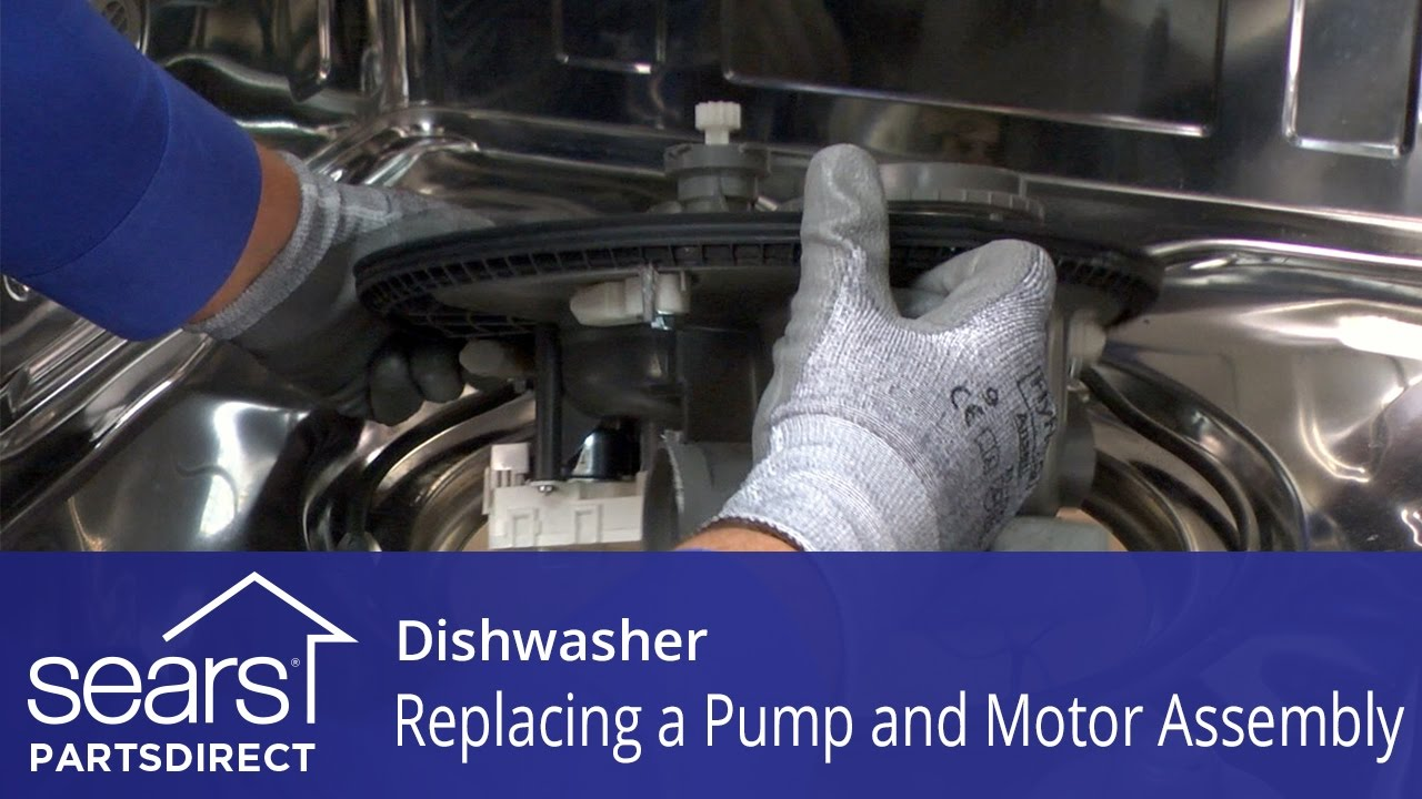 Replacing the Pump and Motor embly on a Dishwasher on
