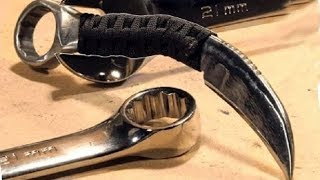 HYPNOTIC Video Of EXTREME - How To Make: RAZOR SHARP Knife From A Wrench (Karambit)