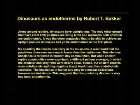 Dinosaurs as endotherms