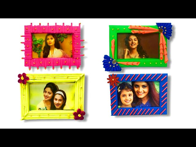4 Photo Frame Diy Ideas |  Handmade Picture Frame Making At home