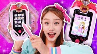 셀카를 찍어보자!! 시크릿쥬쥬 3D 티아라 셀카폰 장난감 전화놀이 - 지니